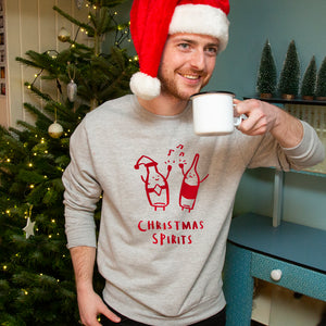 'Christmas Spirits' Funny Christmas Jumper Sweatshirt