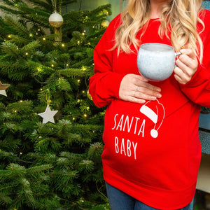 'Santa Baby' Mum To Be Christmas Jumper Sweatshirt
