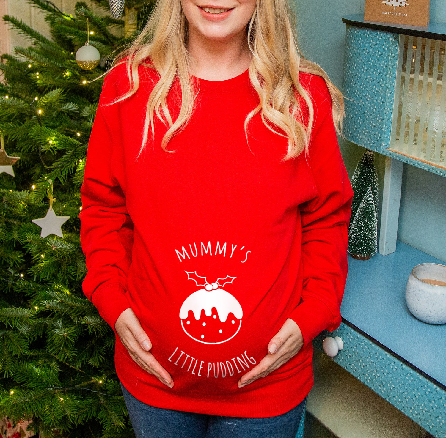 Mother Christmas.Mummy S Little Pudding Mum To Be Christmas Jumper