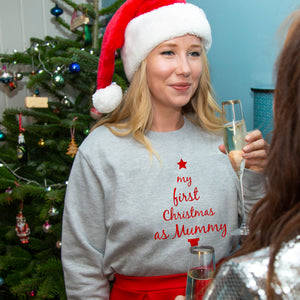 'First Christmas As Mummy' Christmas Jumper