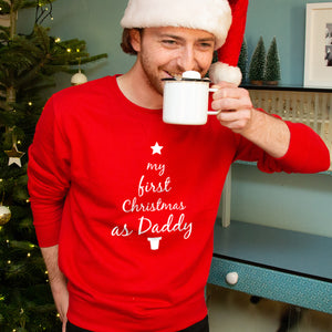 'First Christmas As Daddy' Christmas Jumper