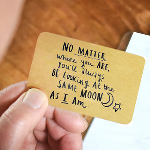 'Same Moon As Me' Long Distance Relationship Card