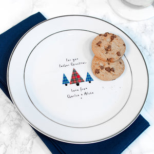 Christmas Eve Personalised Santa Treat Plate