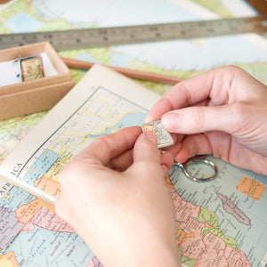 Personalised Square Map Cufflinks