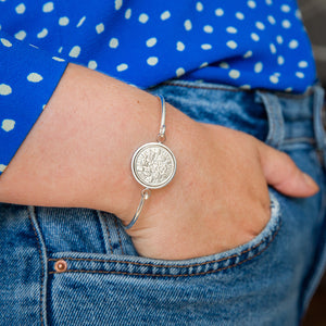 Sixpence Year Coin Bangle Bracelet 1928 To 1967