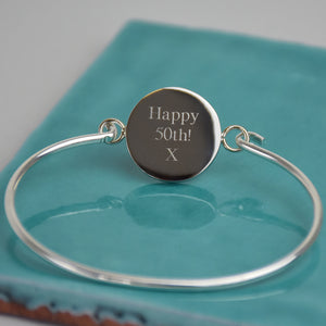 Sixpence 1960 60th Birthday Coin Bangle Bracelet