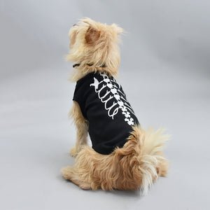 Skeleton Dog Pet Vest