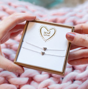 'Soul Sisters' Friendship Heart Bracelet Set