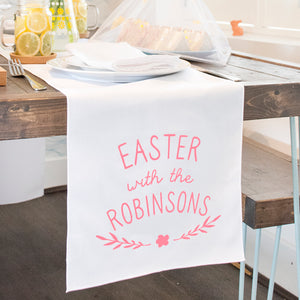 'Easter With The…' Personalisd Table Runner