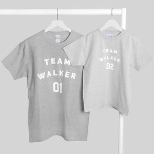 Personalised Team Name And Number T-Shirt Set