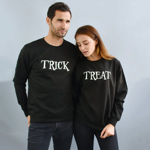'Trick' Or 'Treat' Halloween Unisex Sweatshirt Set