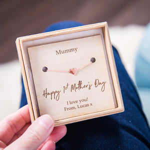'Happy 1st Mother's Day' Personalised Heart Bracelet