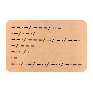 You're Going To Be A Daddy Morse Code Wallet Keepsake
