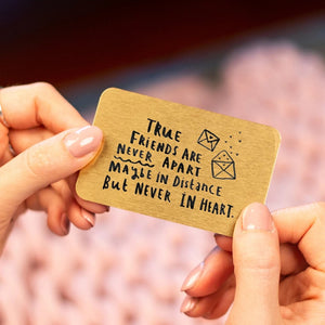 'True Friends Are Never Apart' Wallet Keepsake Card