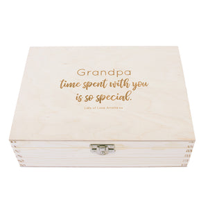'Grandad's Time Is Special Time' Personalised Watch Box