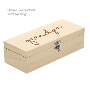 Personalised Name Wooden Watch Box