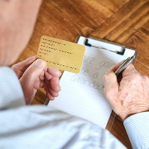 You're Going To Be A Grandad Morse Code Wallet Keepsake