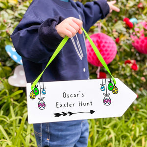 Personalised Easter Egg Hunt Arrow Sign