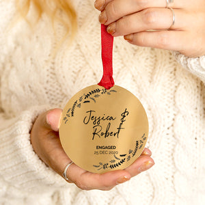 Personalised Engagement Christmas Decoration