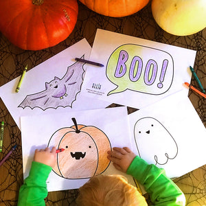 FREE Digital Download Halloween Colouring Pages