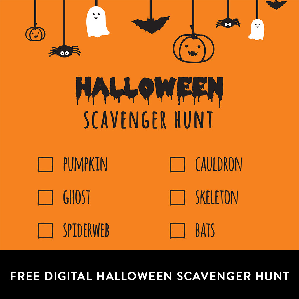 FREE Digital Download Halloween Scavenger Hunt