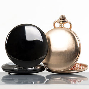 Classic Pocket Watch Rose Gold, Gun Metal