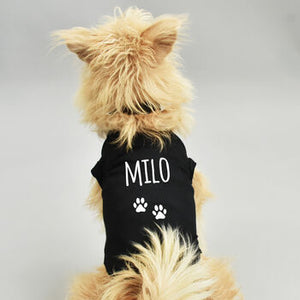 Personalised Name Pet Dog Vest Jumper