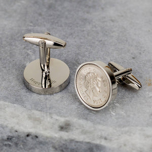 16th Birthday 2005 Five Pence 5p Coin Cufflinks