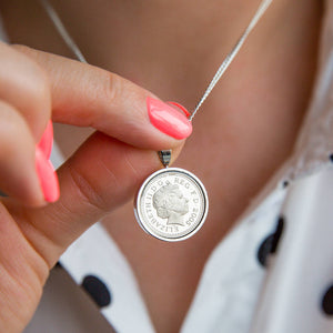 16th Birthday 2005 Five Pence 5p Coin Necklace Pendant