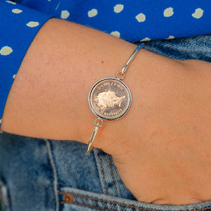 Penny 30th 1991 Birthday Coin Bangle Bracelet