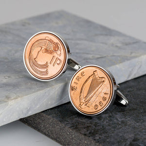 Irish One Penny Coin Cufflinks