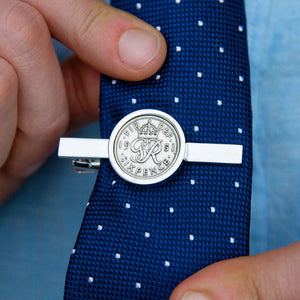 70th Birthday 1951 Sixpence Year Coin Tie Clip