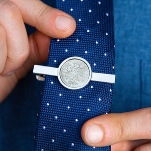 90th Birthday 1931 Sixpence Year Coin Tie Clip