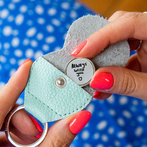 'Always With You' Pocket Token Keepsake Keyring