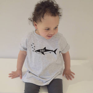 Adult And Children's Shark T Shirt Set