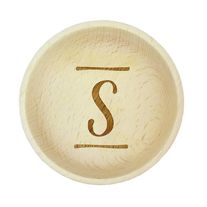 Brush Stroke Initial Wooden Jewellery Trinket Dish