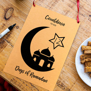 Countdown To Eid Reusable Calendar
