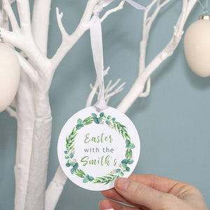'Easter With The' Personalised Easter Wreath Decoration