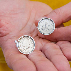 Five Pence (5p) 18th Birthday 2003 Coin Cufflinks