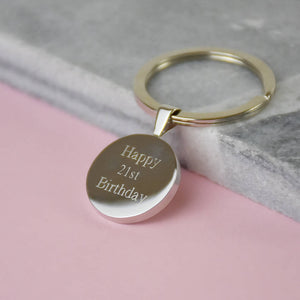 Five Pence 5p Coin Birthday Keyring 1969 To 2005
