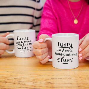 'Funcle / Funty' Fun Aunty And Uncle Mug Set