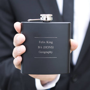 Graduation Personalised Name And Letters Hip Flask