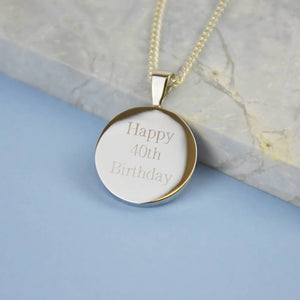Half Penny 40th 1981 Birthday Coin Pendant Necklace