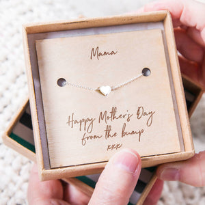 'Happy Mother's Day From The Bump' Heart Bracelet