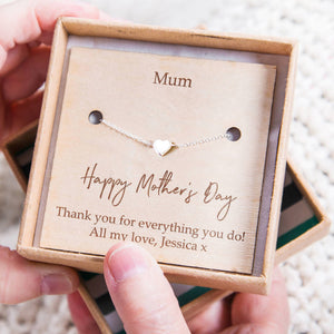 'Happy Mother's Day' Personalised Heart Bracelet