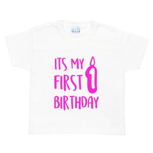 'It's My 1st Birthday' Baby Grow Vest / T Shirt