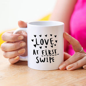 Love At First Swipe Online Dating Mug