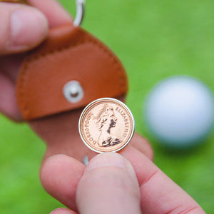 Lucky Penny Coin Golf Marker Keyring 1979 To 2005
