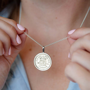 Lucky Sixpence Year Coin Necklace 1928-1967