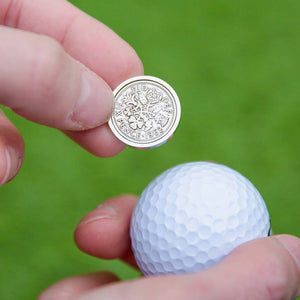 Lucky Sixpence Coin Golf Marker 1928 To 1967